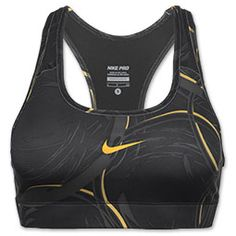 Nike LIVESTRONG Printed Pro Women's Sports Bra is a great choice for any activity with its compression fit and superior support. A wide band at the bottom helps the sports bra stay in place and a racerback design completes the look.