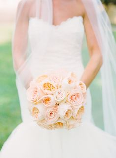 Our wedding experts at Style Me Pretty, share beautiful garden rose bouquet ideas to incorporate into your wedding. Cream Wedding, Our Wedding, Wedding Ceremony, Wedding Bouquets, Wedding Flowers, Wedding Dresses, Garden Rose Bouquet, Garden Roses, Pink Garden