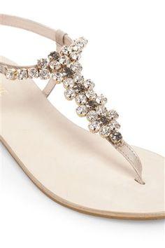 Flower Jewel Sandals £36