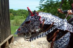 scale model horse armor made by amy jones Horse Armor, Horse Gear, Horse Tack, Medieval Horse, Medieval Armor, Amy Jones, Horse Costumes, Dragon Rider, Historical Artifacts