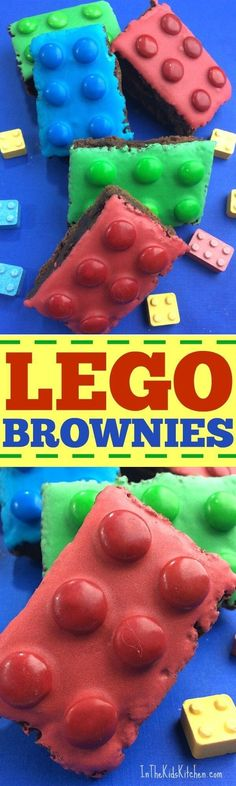 Perfect for a kids birthday party, bake sales, or to celebrate the new LEGO movies -- these colorful LEGO Brownies are the coolest dessert ever! #dessertfoodrecipes