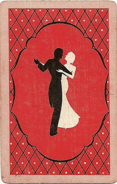 vintage playing card red dance by Millie Motts, via Flickr
