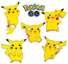 Pikachu 5 poses Pokémon Go