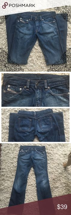 "Diesel Jeans Women's 100% cotton diesel industry jeans denim size 26...inseam 31"". Great condition Diesel Pants Straight Leg"