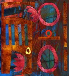 Michèle Brown Artist - The Old Cells Studio: Gateway - Collage