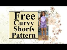 #BarbieStyle #CurvyBarbie Shorts Pattern Fits #Lammily Free sewing pattern found at ChellyWood.com
