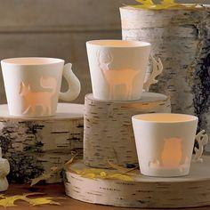 Teelichthalter Waldtiere, Trio