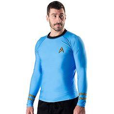 Star Trek Classic Uniform Rash Guard- Blue (Small) ** See this great product.