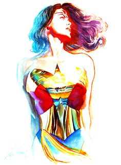 Alex Ross Wonder Woman - This piece is SUPER cool and SUPER colorful!