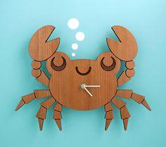 disney crab image   Fall Backwards! 14 Handmade Clocks For Your Nursery Walls.
