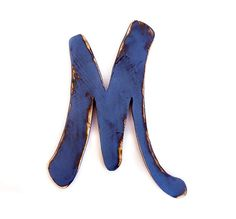 Letter M Wall Decor baby shabby chic wooden letters nursery - m - vintage white