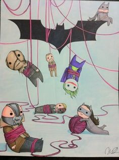 Love this Dark Knight trilogy drawing.