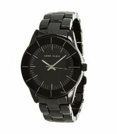 Anne Klein Women's AK/1361BKBK Black Ceramicl Watch