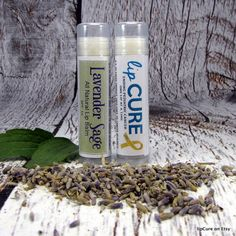 Lavender Sage All Natural Lip Balm  $1 from the sale of every product sold goes to pediatric cancer research.  #handmadelipbalm #fundpediatriccancerresearch