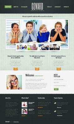Govard University WordPress Themes by Elza Research Studies, Web Design Inspiration, Design Development, Wordpress Theme, Templates, Education, International University, Blog, Live