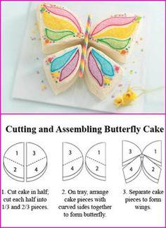 Tipp  aufteilung Schmetterling für Torte... Constructing a butterfly cake