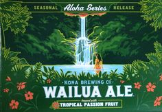 Kona Brewing Co. - My favorite new beer from Hawaii. Vintage Beach Posters, Vintage Signs, Kona Brewing, Brewing Co, Beer Bottles, Bottle Labels, Don Papa, Beer Label Design, Ale