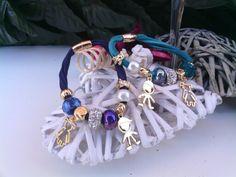 Bracciale con perle a foro largo in stile pandora e bebe  Seguici su www.facebook.com/lecreazionidialec e scopri tutti i dettagli
