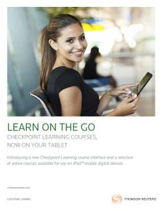 Checkpoint Learning courses, now on your tablet! View a brochure for more information.