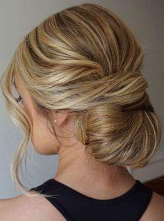 chignon wedding hairstyle #chignon #weddinghair #hairstyle #hairideas #bridalhair