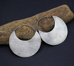 Large Disc Earrings Big Disc Earrings 2 inch Disc Earrings Sterling Silver African Earrings Tribal Earrings Ethnic Earrings Boho Earrings by SilverJewelryElena on Etsy
