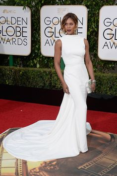 Laverne Cox's red carpet look at the 73rd annual Golden Globes