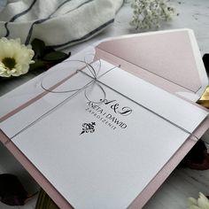 Zaproszenia na ślub wrzosowy róż Classic-RoyalDekor Wedding Looks, Retro, Neo Traditional, Mid Century