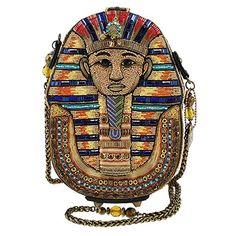 Mary Frances TUT Beaded Egyptian Pharaoh Novelty Handbag, Multi