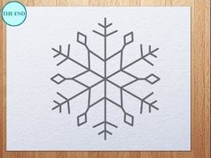 How to draw a snowflake Easy art instructions on how to draw by kidsarthub on youtube :)