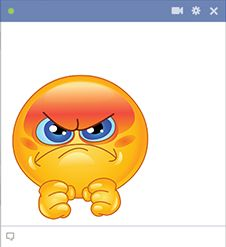 Irritated smiley for Facebook