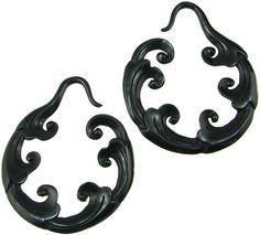 Large Gauge Fancy Horn Cloud Hoop Earrings ~Zuki Imports