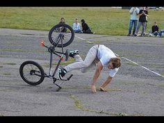 Жесткие падения на велосипеде. Большая подборка