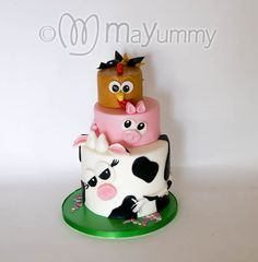 Farm AnimalsAll of these can be made either as a single tier, two tier or even three tier cake to accommodate the number of portions required. Perfect for any animal enthusiast.