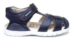 Biomecanics sandalia cerrada azul marino,ajuste con velcro.