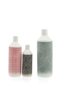 Bouteilles en céramique aux tons pastels - Ceramic bottles with pastel tones - Créateur/Designer: Ismaël Carre