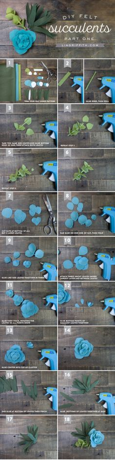 Sewing Fabric Flowers DIY Felt Succulent Tutorial by Michaels Makers Lia Griffith - Make your own gorgeous vertical garden wall art with this simple felt succulent tutorial from handcrafted lifestyle expert Lia Griffith. Felt Flowers, Diy Flowers, Fabric Flowers, Paper Flowers, Ribbon Flower, Ribbon Hair, Hair Bows, Flower Diy, Diy Fleur Papier