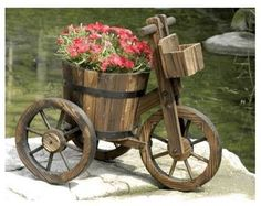 decorative wheelbarrow planter - Szukaj w Google