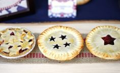 Mini Patriotic Pies. Photo courtesy of Chris Nease, CelebrationsatHomeBlog.com http://www.poolspaoutdoor.com/blog/entryid/96/pool-party-ideas-party-themes-decor-and-games.aspx