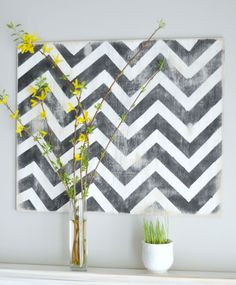 """Ever looked at a piece of art and thought, """"I could do that?"""" Look no further than She's Crafty for #DIY instructions on how to customize this graphic print to suit your home. #westernliving"""