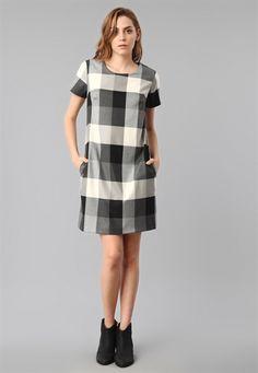 Ekose Elbise 1960s Fashion Dress, New Dress, Lace Dress, Shift Dress Pattern, Dress Outfits, Fashion Outfits, Check Dress, Dresses For Work, Summer Dresses