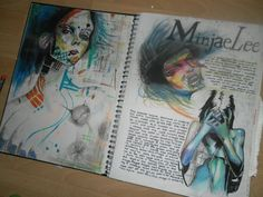 I'Ve collect an example of art journal pages that i think are excellent. browse through the examples and try to incorporate some of the ideas into your art Art Journal Pages, Art Pages, Art Journals, Kunst Portfolio, Artist Research Page, Gcse Art Sketchbook, Sketchbooks, A Level Textiles Sketchbook, A Level Art Sketchbook Layout