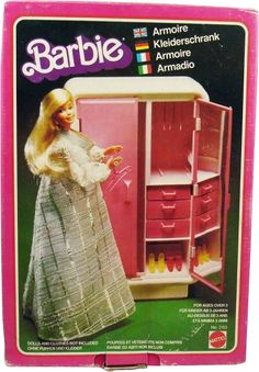 F Armoire furniture 2 Doll Toys, Barbie Dolls, Barbie Playsets, Barbie Dream, Barbie Furniture, Childhood Toys, Armoire, 1970s, Joy