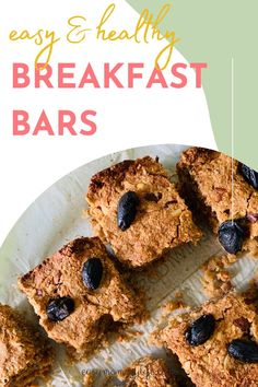 Get this super easy and healthy breakfast bars recipe that uses oats, peanut butter, apples and cinnamon. Breakfast Bars Healthy, Peanut Butter Breakfast, Oatmeal Breakfast Bars, Breakfast Options, Healthy Toddler Meals, Healthy Snacks, Indian Breakfast, Apples, Super Easy