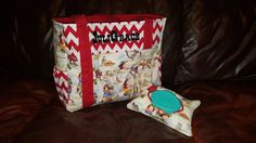 Vintage Cowgirl Diaper Bag and Wipe Cover Cowgirl by ShaysStore