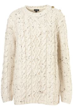 Knitted Button Cable Jumper - £45.00