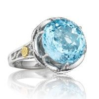 Tacori 18K925 Island Rains Sterling Silver Sky Blue Topaz Cocktail Ring