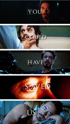 Tony Stark's biggest fear: Failure to protect the world and those he loves.