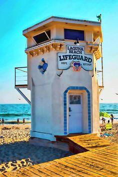 Laguna Beach Lifeguard Station  Photograph