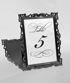 Elegant Wedding Table numbers  set of 10 by TheMemoryTrunk on Etsy, $25.00