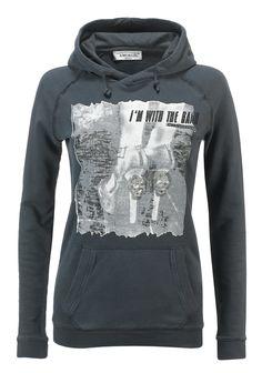 Felpa donna AWorld con cappuccio incrociato e stampa fotografica.   Shop online: http://www.athletesworld.it/felpa-aworld-garment-dyed-aworld-9194493